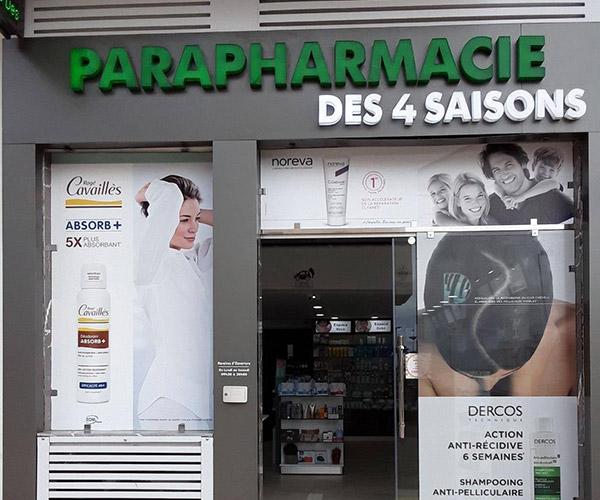 façade de la parapharmacie 4 saisons à lunel